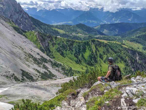 Blick vom Klettersteig Anna über Dachsteinebene
