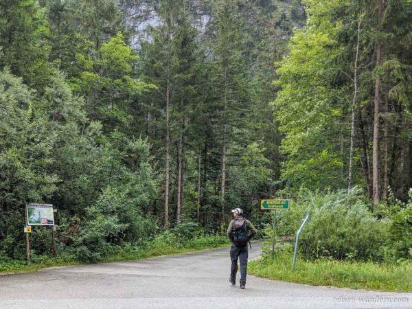 Zugang zum Kraftwerk beim Schmied Klettersteig