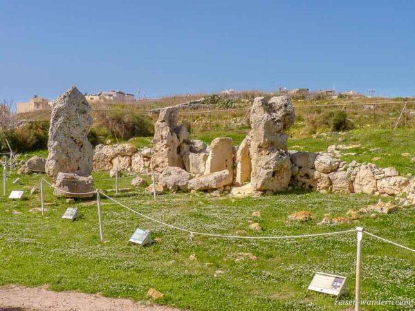 Überreste des Skorba Tempel auf Malta