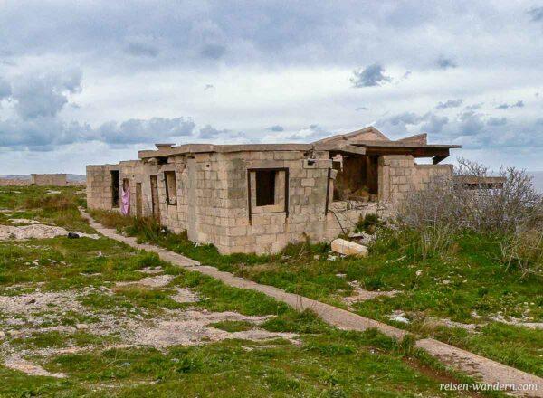Überreste des Fort Campbell auf Malta