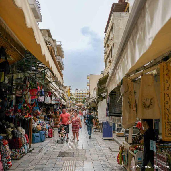Markt auf der Straße 1866 in Heraklion