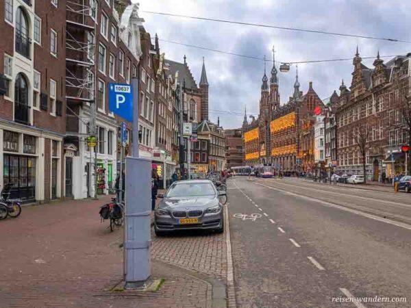 Parkautomat in der City von Amsterdam