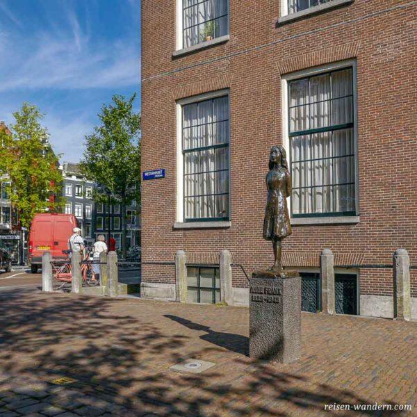 Denkmal beim Anne Frank Haus