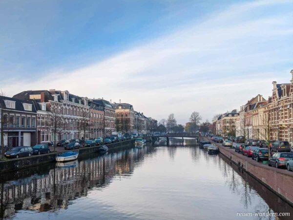 Blick über den Kanal von Haarlem