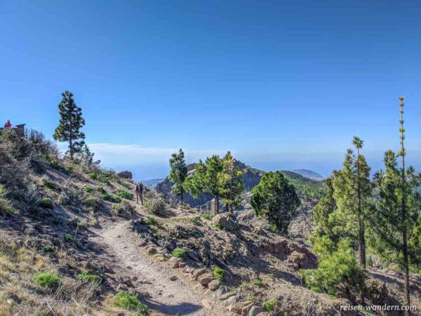 Wanderweg beim Pico de las Nieves