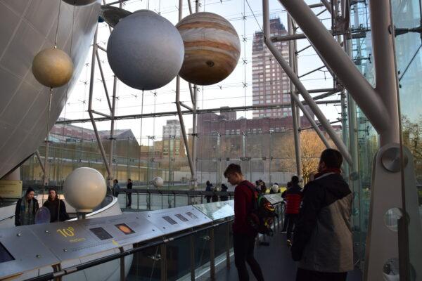 Die Planeteninstallation im American Museum of Natural History