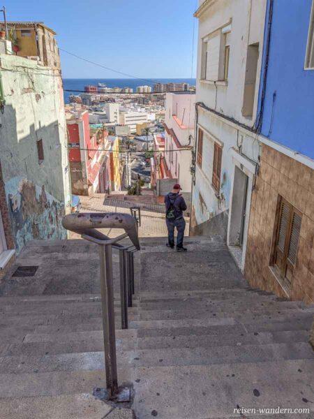 Treppen in der Oberstadt von Las Palmas