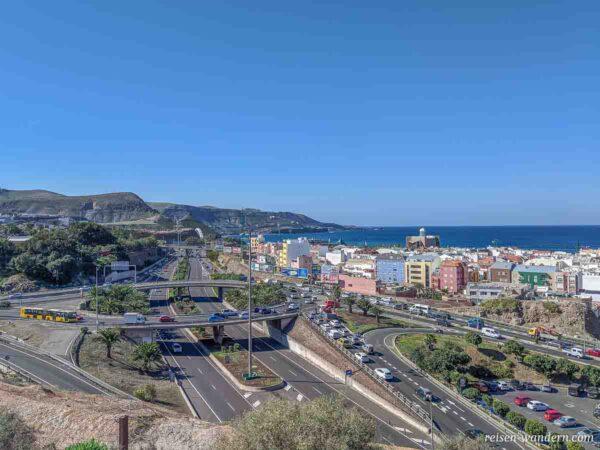 Straßennetz im Nordwesten von Las Palmas mit Alfredo Kraus Audi