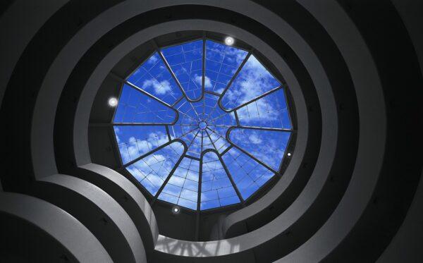 Die Kuppel des Guggenheim Museums von innen