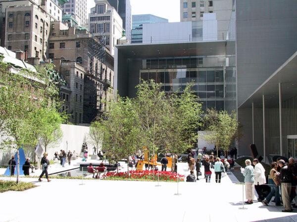 Der Garten hinter dem MoMA