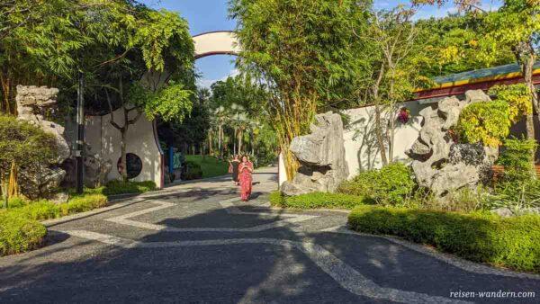 Chinesischer Garten in der Parkanlage des Gardens by the Bay