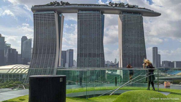 Hotel Marina Bay Sands Singapore von der Aussichtsplattform Supe