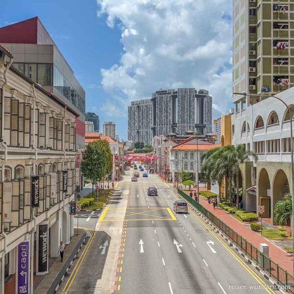 Blick nach Chinatown mit Pinnacle Duxton Komplex
