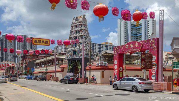 Sri Mariamman Hindu Tempel in  in Chinatown in Singapur