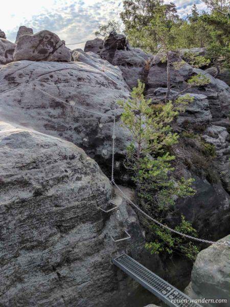 Brücke auf Plateau der Häntzschelstiege