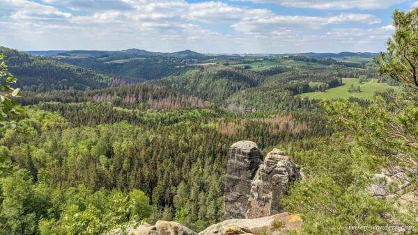 Blick von der Häntzschelstiege zum Falkenstein