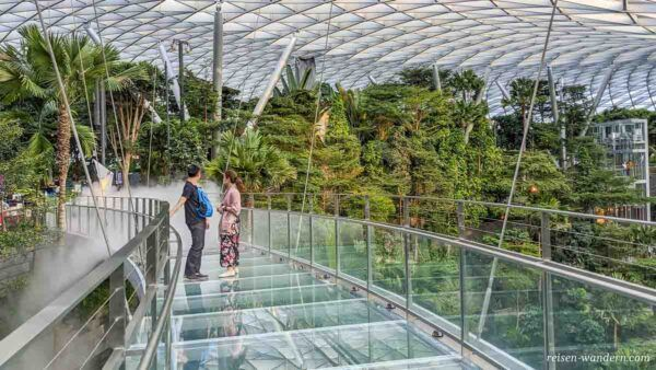 Canopy Bridge im Jewel Changi Airport Shoppingcenter