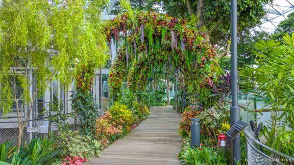 Blumentor im Freizeitpark Canopy Park im Flughafen Singapur