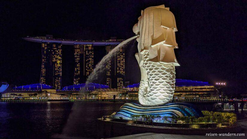 Statue von Merlion in Singapur