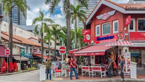 Cafe im arabischen Viertel in Singapur