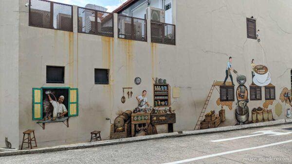 Graffiti von einer Kaffeerösterei im arabischen Viertel