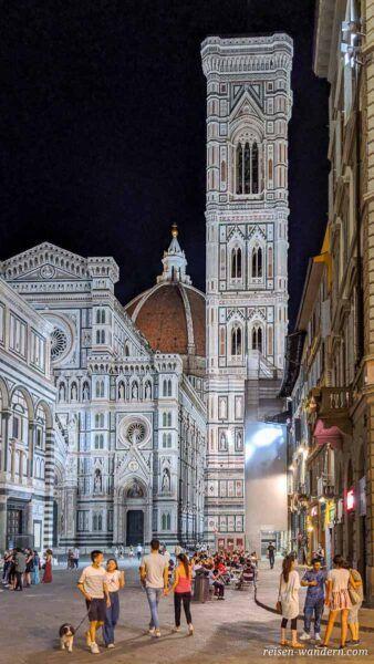 Turm Campanile di Giotto am Abend