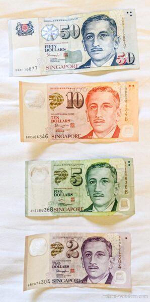 Geldscheine in Singapur