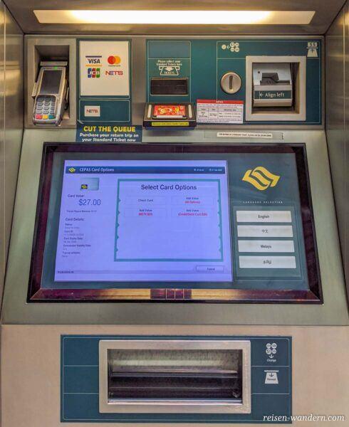 Aufladestation für NETS Card in Singapur