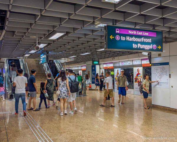 U-Bahn Station von Singapur