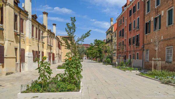 Viertel auf der Rio Terà dei Pensieri in Venedig