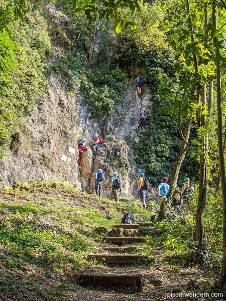 Einstieg des Klettersteig Monte Albano
