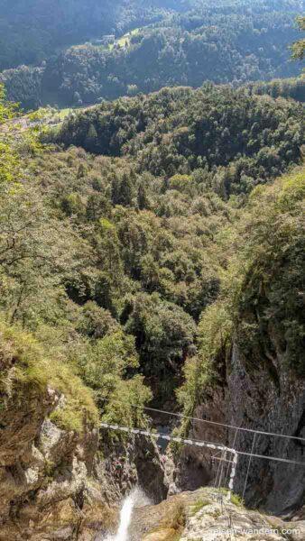 Blick vom Via Ferrata Signora delle Acque nach Ballino