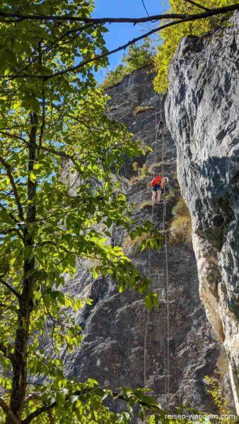 Längste Leiter am Klettersteig Via dell Amicizia