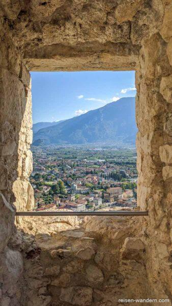 Blick von der Bastion auf Riva del Garda