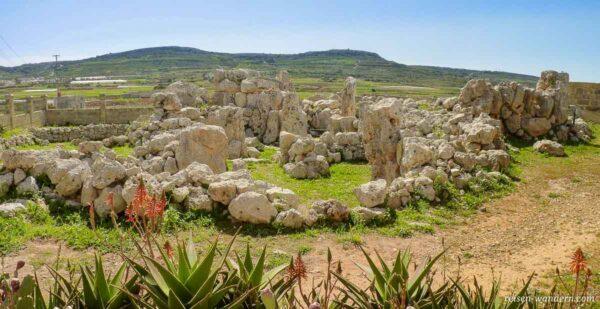 Anlage des Ta`Hagrat Tempel auf Malta