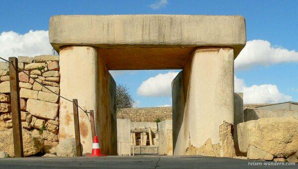 Trilith-Portal des Tarxien Tempel