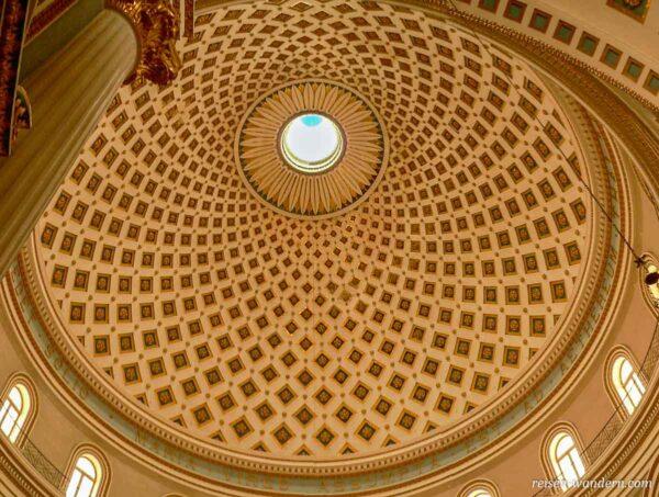 Kuppel vom Dom von Mosta