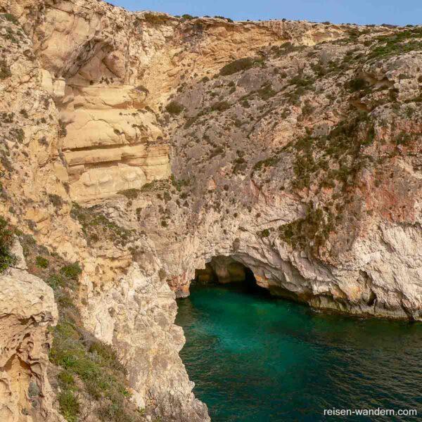 Steilküste an der Blauen Grotte auf Malta