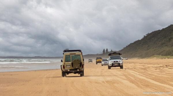 Geländewagen fahren in Australien an der Sunshine Coast