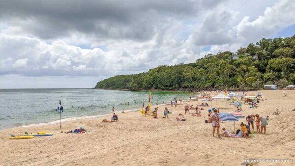 Strand von Noosa Heads in Queensland in Australien