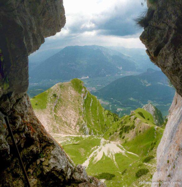 Blick vom Via attrezzata Giulio Segata auf die Umgebung