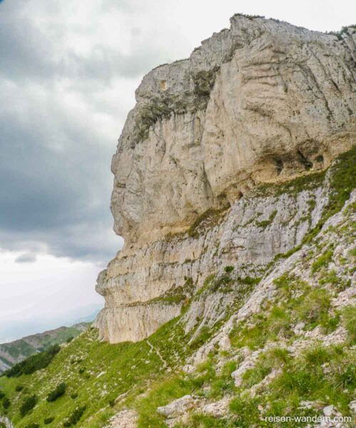 Fels des Dos d`Abramo mit Klettersteig