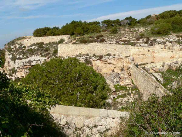 Einstiegsweg zur Victoria Lines auf Malta