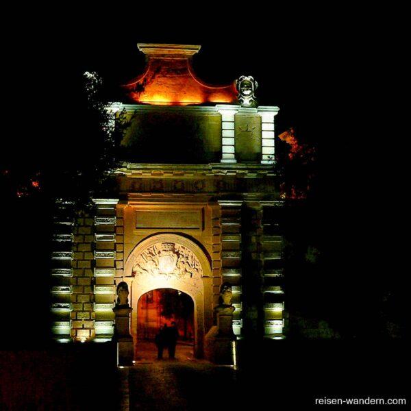 Main Gate von Mdina am Abend