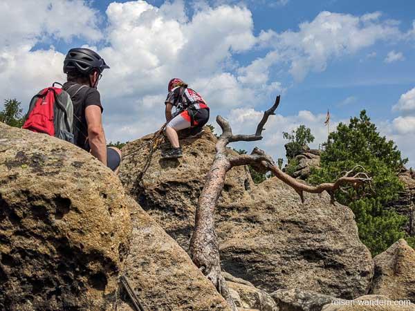 Klettersteig Nonnensteig mit Kletterern