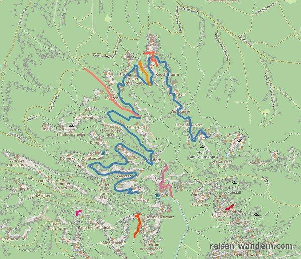 Lage Stiegen Sächsische Schweiz auf einer Karte