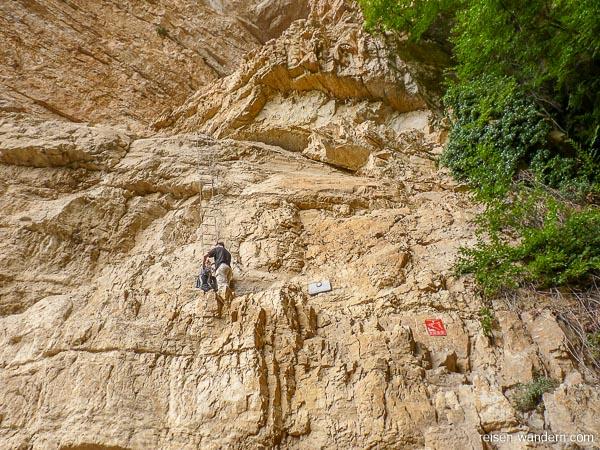Einstieg des Klettersteigs Gerardo Sega