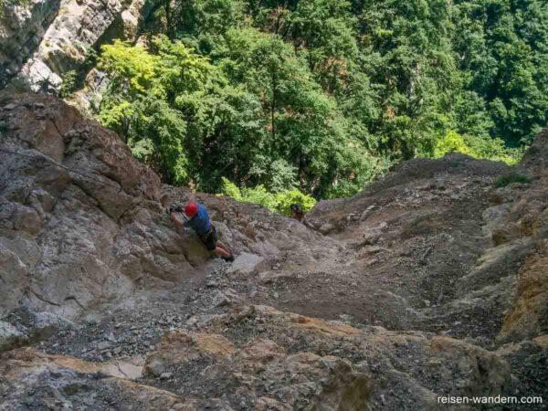 Oberer Teil des Klettersteigs Gerardo Sega