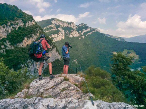 Ausstiegsplateau am Klettersteig Gerardo Sega