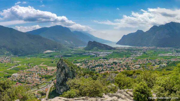 Blick vom Klettersteig Sentiero attrezzato del Colodri